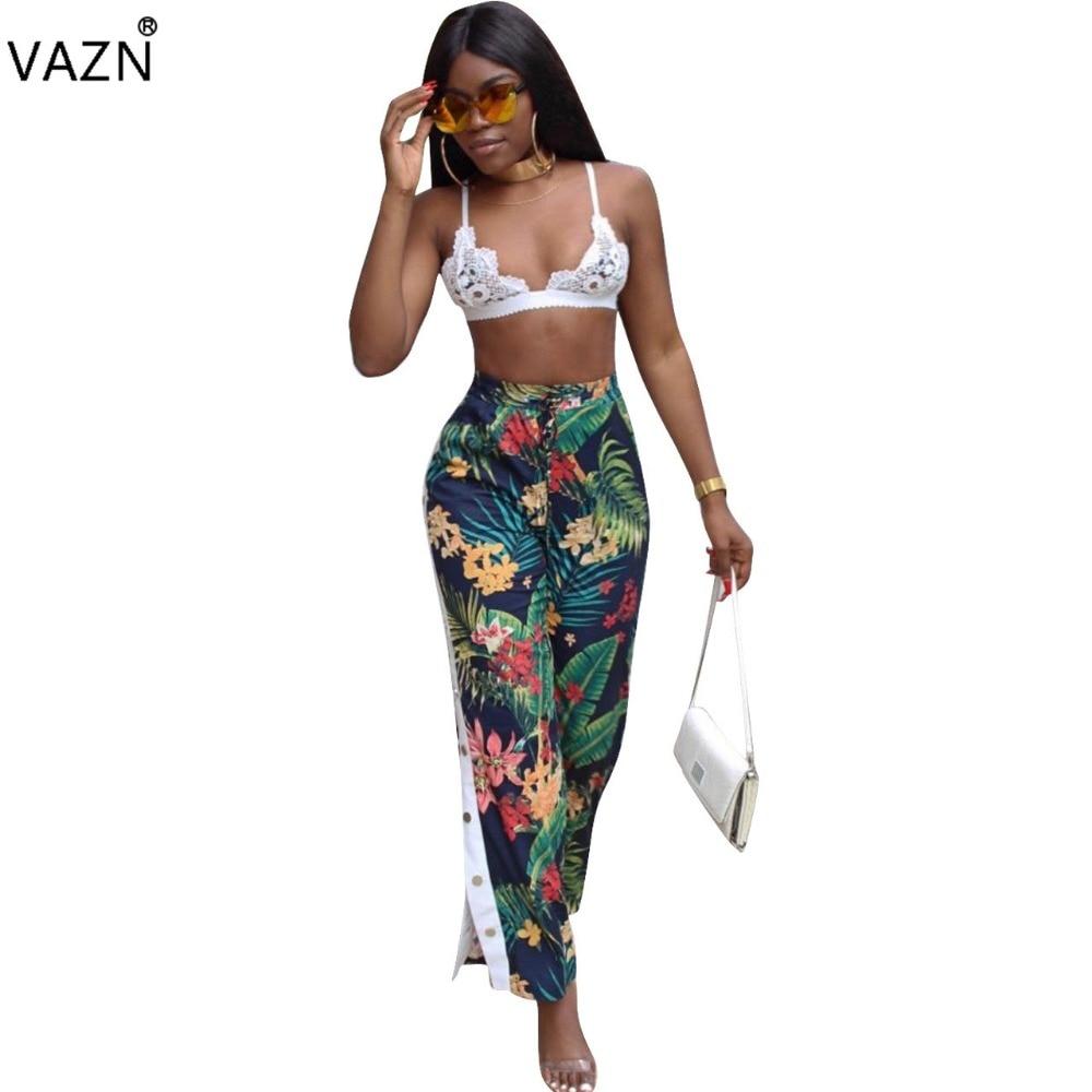 VAZN Special Design 2017 Popular Casual Pants Full Length Print Pants Novelty Sexy Summer Pants Q005