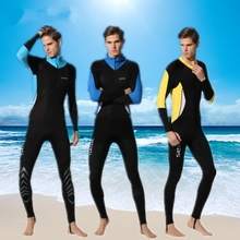 Men's Long Sleeve One-Piece Wetsuit Lycra Rash Guards Diving Suit Full Body Swimming Surfing Suits Anti-UV