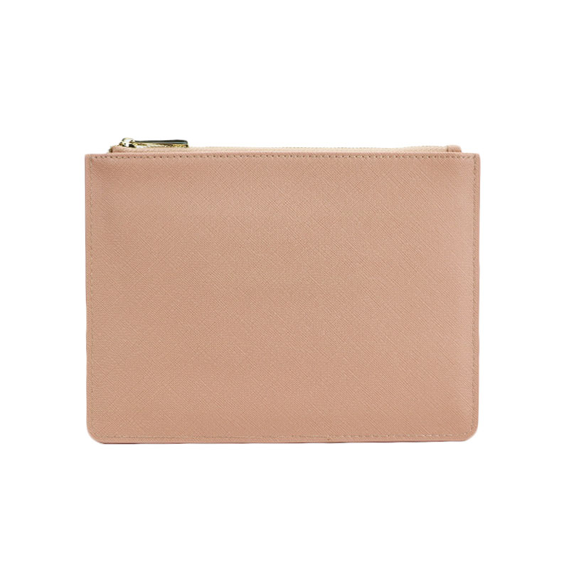 Monogrammed Customized Letters Women PU Saffiano Pouch Ladies Vegan Leather Clutch Bag Small Hand Bag Purse