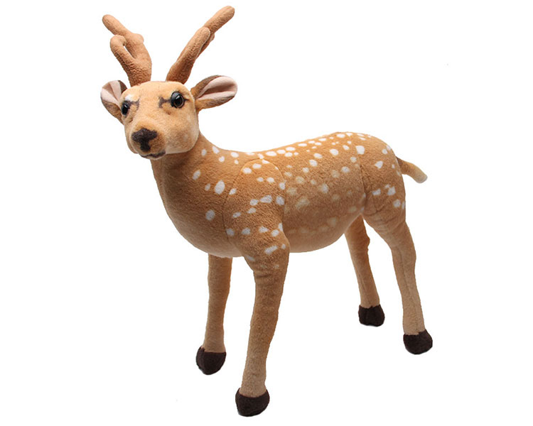 simulation animal sika deer 75x60cm deer plush toy doll birthday gift w1197 fancytrader 47 120cm lovely plush giant stuffed simulation spotted sika deer toy nice decoration free shipping ft50175