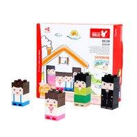 Wange My Family Building Blocks Large Size Bricks Educational Toys for Children Kid Toys