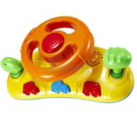 Baby Toddler Car Seat Buggy Steering Wheel Toy With Musical Sound Random Color