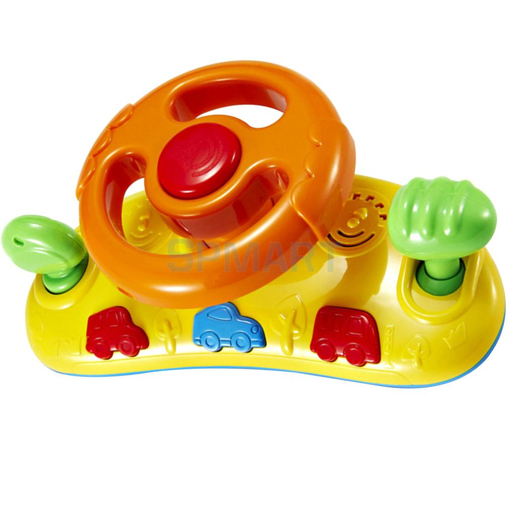 Toy Buggy With Car Seat Us 13 87 29 Off Baby Toddler Car Seat Buggy Steering Wheel Toy With Musical Sound Random Color In Baby Rattles Mobiles From Toys Hobbies On
