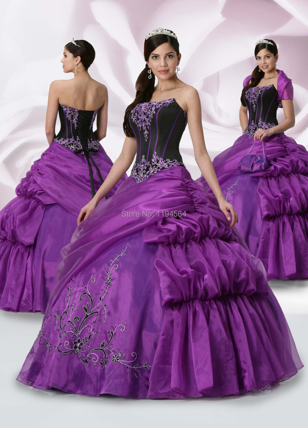 Popular Black and Purple Quinceanera Dresses-Buy Cheap Black and ...