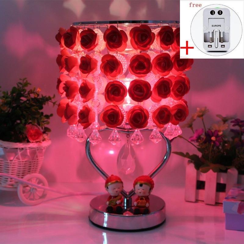 220V Creative Metal Alloy Electric Plug Essential Oil Aroma Lamp Wedding Gifts Home Romantic Flower Fragrant Burner Night Light