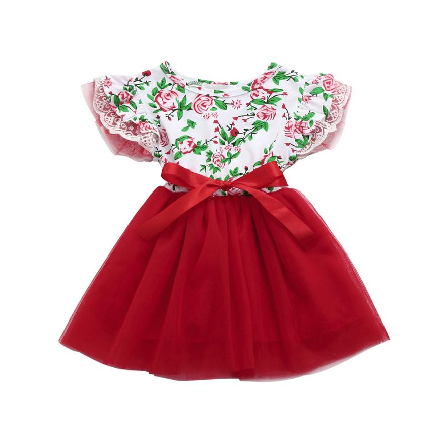 Baby Girls Infant Toddle Floral Lace Tutu Sleeveless Clothes Princess Dressgirls clothes