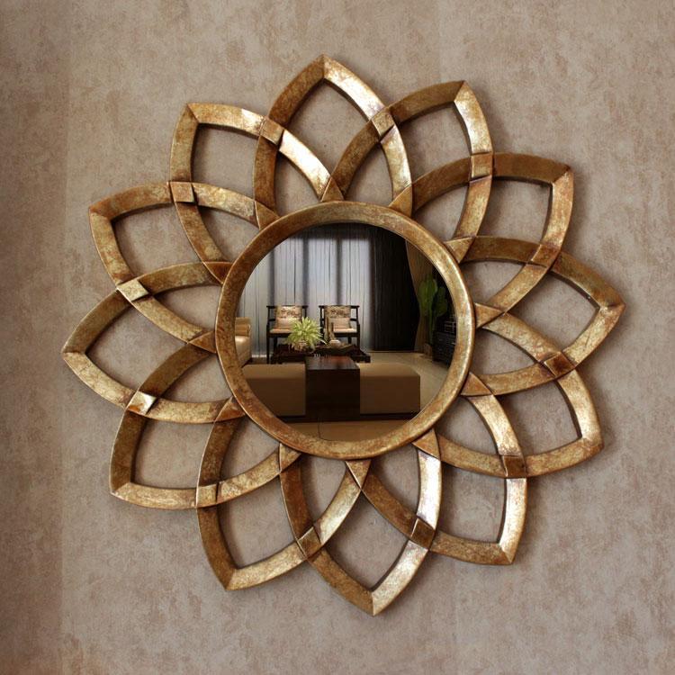 Dia78cm ヨーロッパスタイルの壁の装飾ミラー織太陽ミラーテレビの背景の浴室の装飾  グループ上の ホーム&ガーデン からの 装飾ミラー の中 1