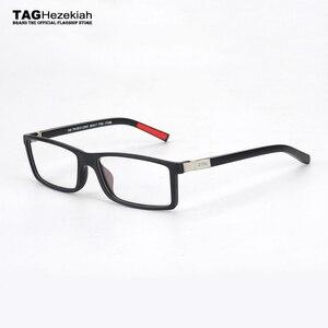 Image 1 - Hezekiah monture de lunettes Vintage pour hommes et femmes, 2019 étiquette de styliste, monture dordinateur rétro, métal, myopie, nerd 0512