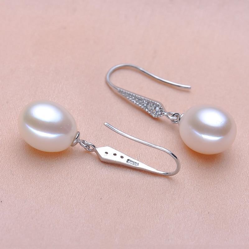YIKALAISI 925 sterling silver Natural Freshwater Pearl Drop Earrings - Märkessmycken - Foto 5
