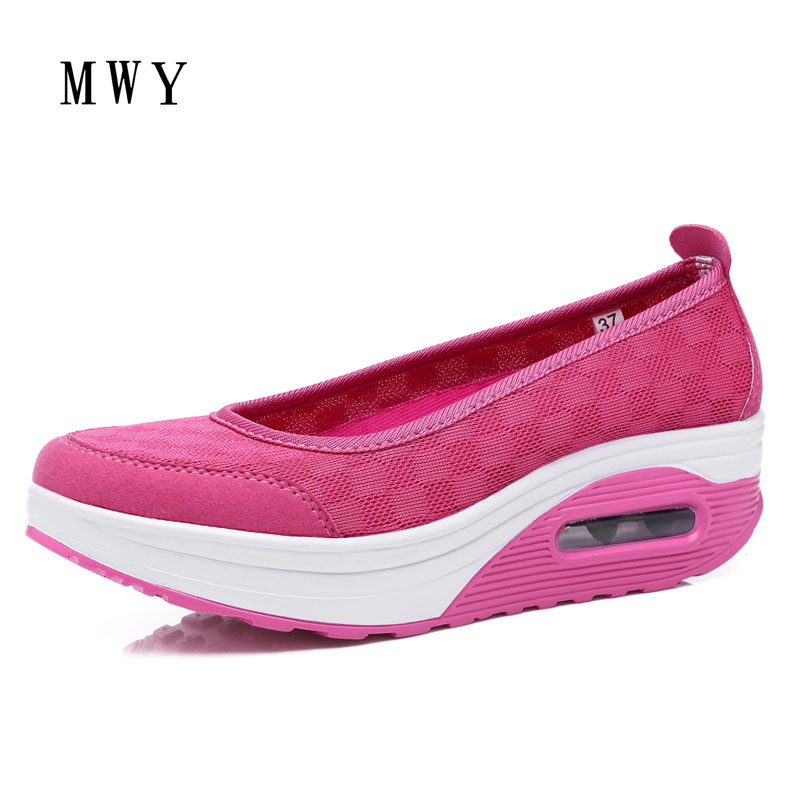 MWY Women Casual Shoes Fashion Walking Shoes Height Increasing Femal Loafers Breathable Mesh Swing Wedges Shoe Tenis Feminino summer shoes women casual fashion height increasing women platform shoes breathable air mesh swing wedges shoe women krasovki