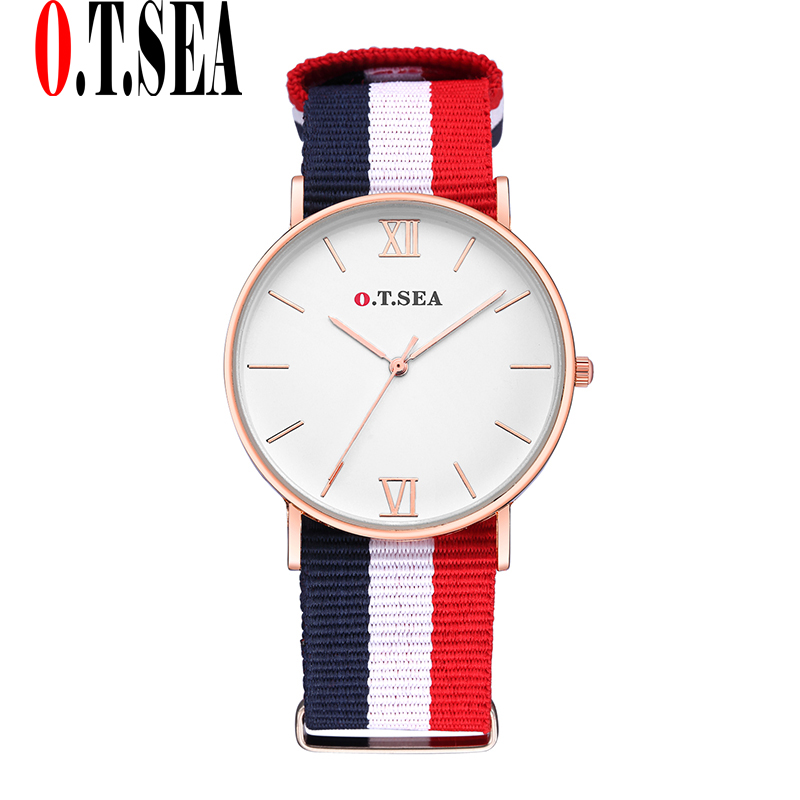 High Quality O.T.SEA Brand Nylon Watches Women Ladies Men Fashion Military Dress Quartz Wristwatches Relogio Feminino hot sales geneva brand silicone watches women ladies men fashion dress quartz wristwatches relogio feminino gv008