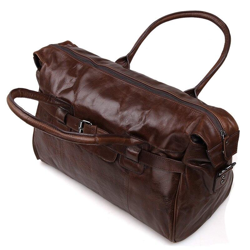J.M.D Äkta Vintage Läder Mäns Business Briefcase Manlig Mode - Väskor för bagage och resor - Foto 4