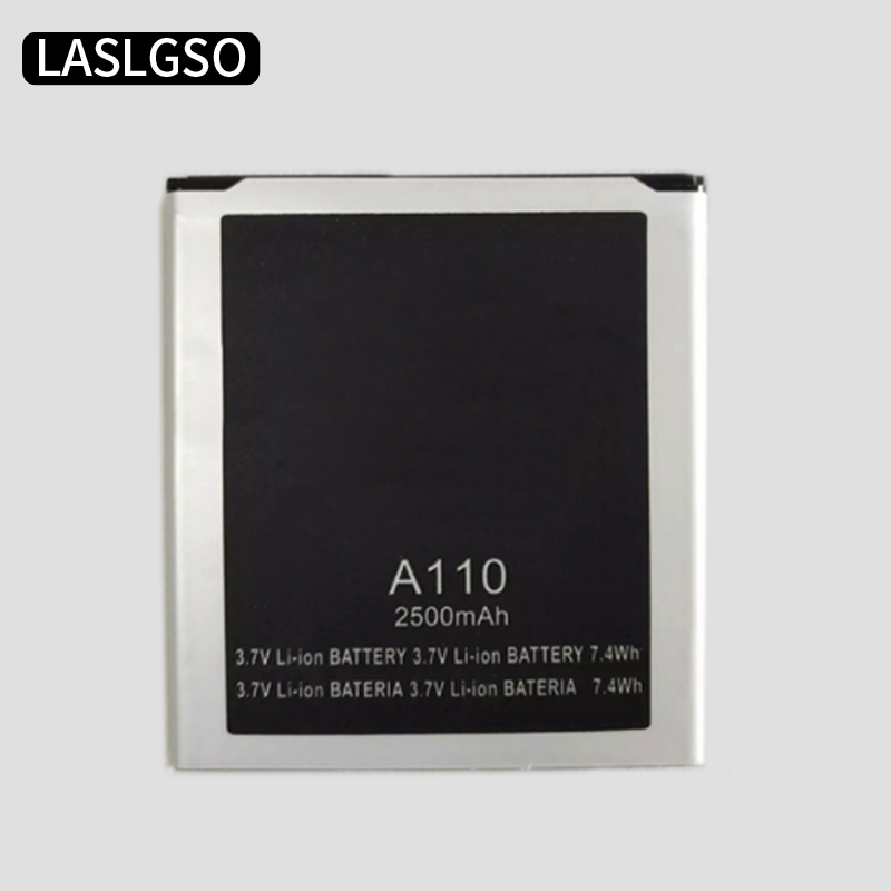 10pcs lot New original High Quality 3 7V 2500mAh A110 Battery for Micromax A110 mobile phone