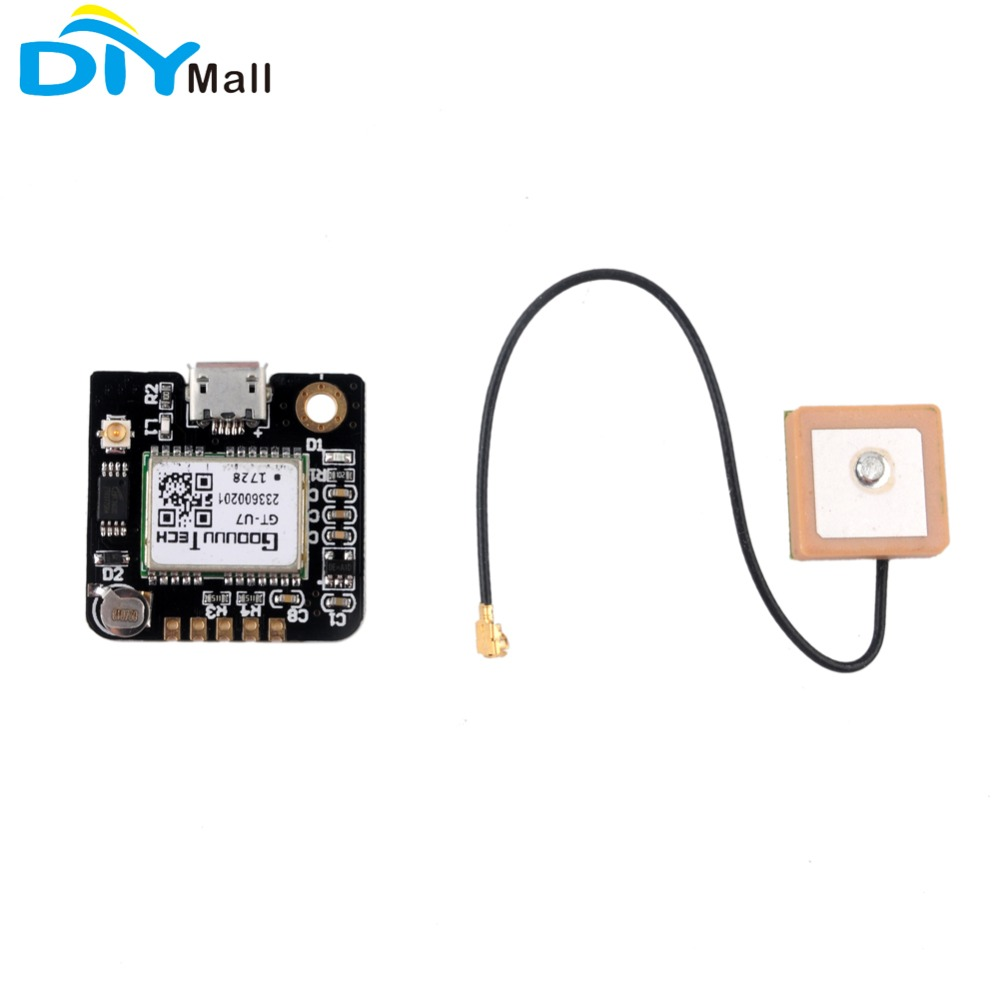 TD-ELECTRO NEO-6M GPS Shield GPS Record Expansion Board GPS Module with SD Slot Card with Antenna UNO R3