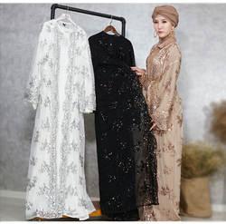 Новый Дубайский мусульманский блёстки, женская верхняя одежда, кимоно высокого качества, роскошная верхняя одежда с вышивкой для