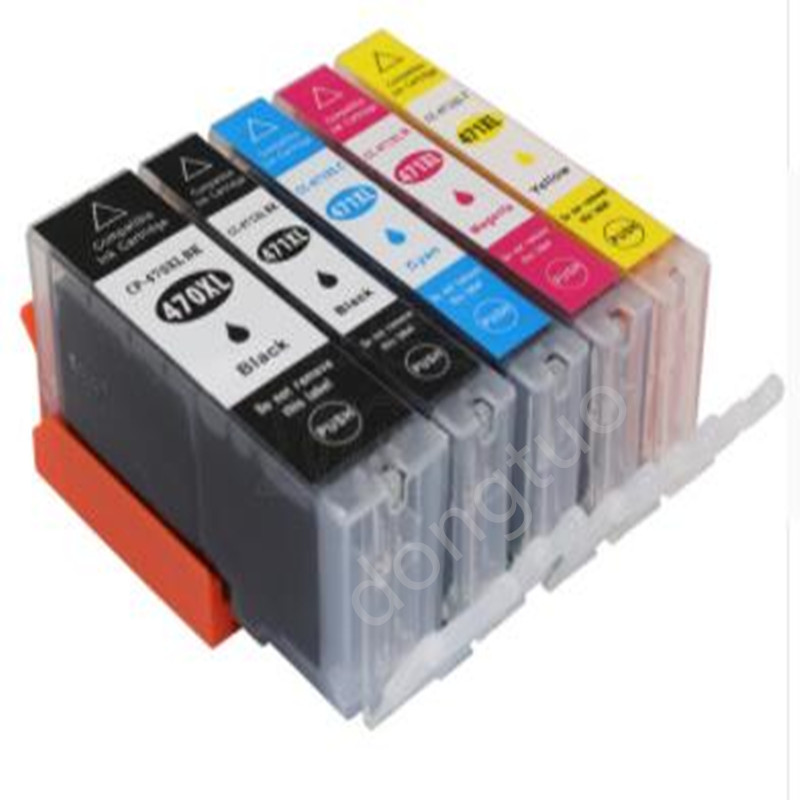 5 PACK For PGI-470 CLI-471 pgi470 cli471 470 471 Full Ink cartridge compatible for Canon PIXMA MG5740 MG6840 TS5040 TS6040 стоимость