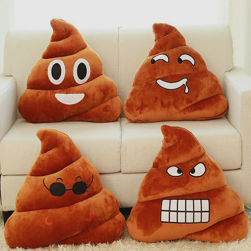 Fashion Style Cushion Cove Soft Browm Emoji Smiely Plush Pillow Cover Sofa Bed Room Stuffed Doll Pillowcase 18jan24 Table & Sofa Linens