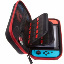 Фотография Hard Carrying Case for Nintendo Switch with 29 Game Cartridge and 2 Micro SD Card Holders - Red/Black