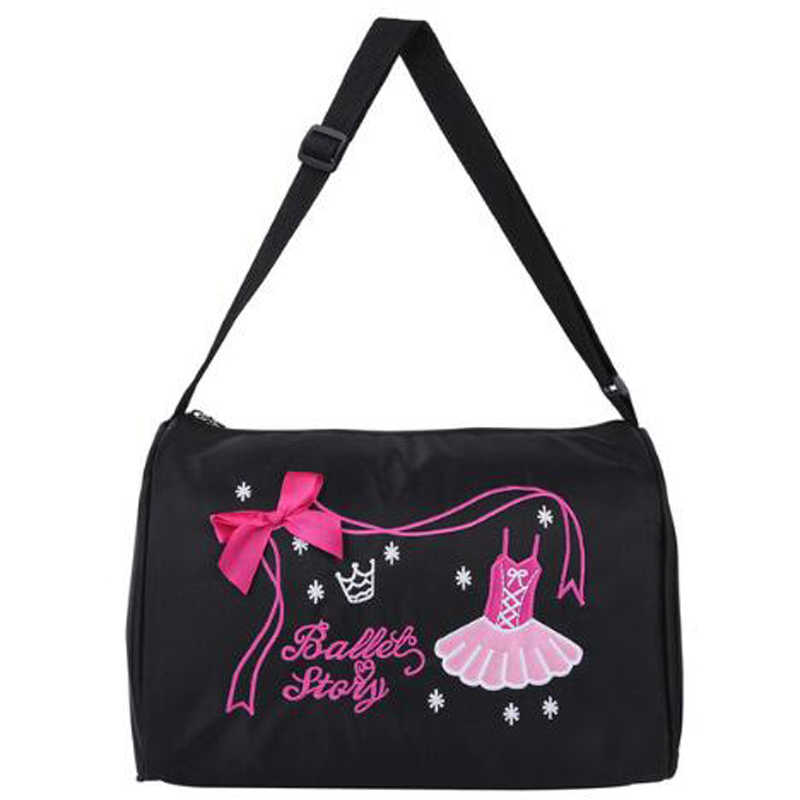 4 colors Fashion Kids Ballerina Ballet Dance Bags for Girls Hand Bag School Gym Sports Dance Shoulder Bag Duffel Bag with Zipper