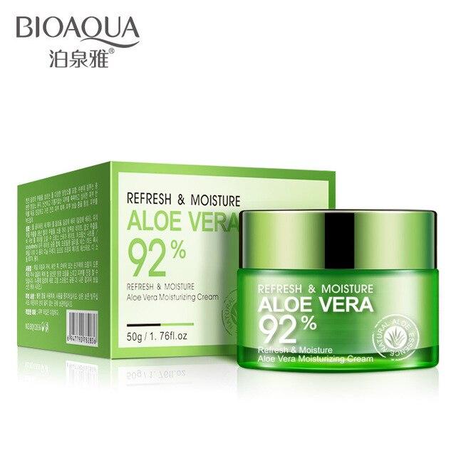 BIOAQUA Aloe Vera Gel Essence Face Cream Moisturizing Snail Whitening Cream Acne Scar Removal Cream Korean Cosmetics Skin Care 2