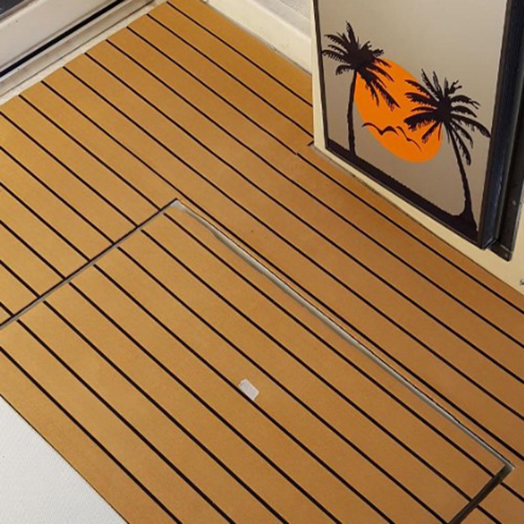 240 X 60 cm/ 94'x23' Marine Boat Yacht  Floor Protection Sheet Synthetic Teak EVA Foam Decking Sheet Self-Adhesive