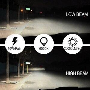 Image 3 - 2PCS LED H4 H7 LED Headlight Larger COB 10000LM LED Car Lights 50W H1 LED Fog lights 12v 24v H11 HB3 HB4 Auto Lamp Car Styling