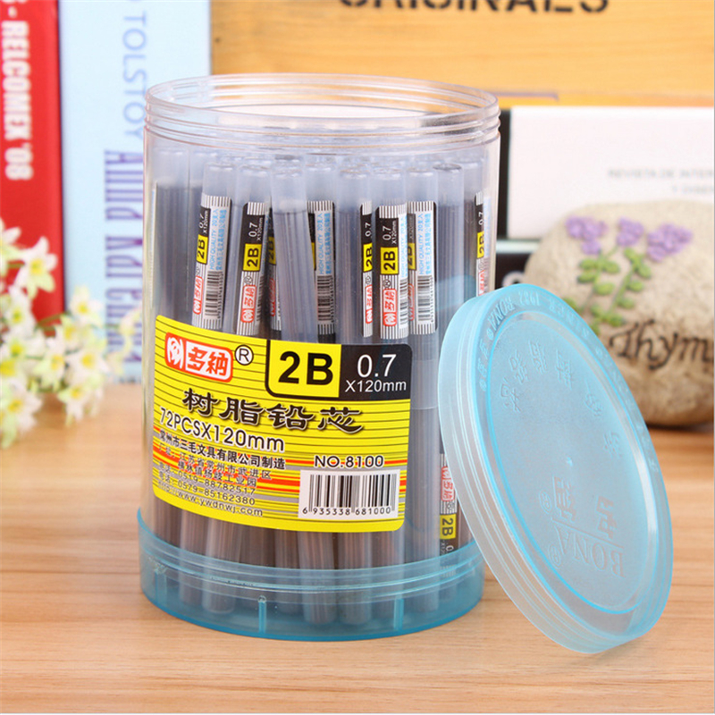 B422 2B Resin Lead 0.5 Doner 0.7 Automatic Pencil Lead Student Prize Gift Wholesale Office Translation Student Utensils