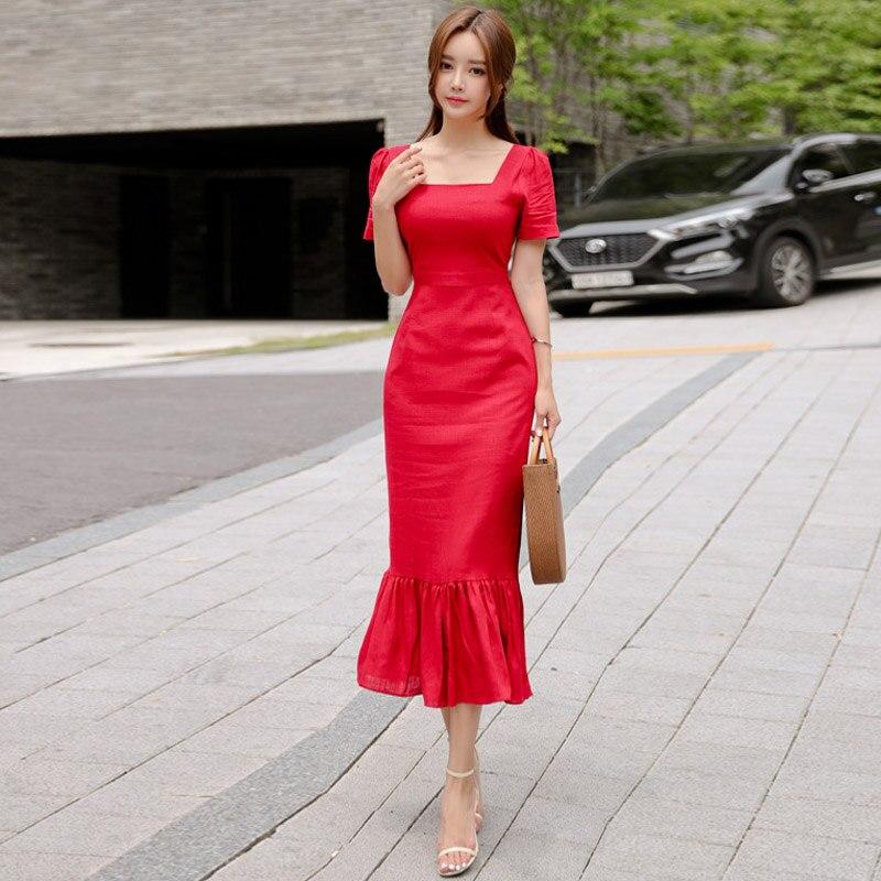 abef4efe912 red curvy girl summer women dress elegant vestidos robe femme party dresses-in  Dresses from Women s Clothing on Aliexpress.com