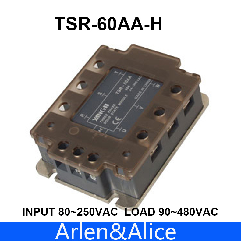 цена на 60AA TSR-60AA-H Three-phase High voltage type SSR input 80~250VAC load 90-480VAC single phase AC solid state relay