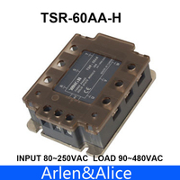 60AA TSR 60AA H Three phase High voltage type SSR input 80~250VAC load 90 480VAC single phase AC solid state relay