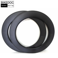 700c 23mm Width Carbon Rim Tubular 88mm Carbon Rim For Road Bicycle Aro De Bicicleta
