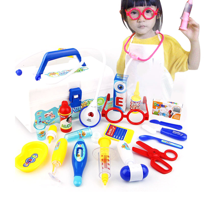 Doctor Series Pretend Play Set Children Play House Toys Medical Kits Classic Toy Simulation Medicine for Girl & Boy