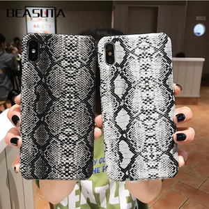 Snake Skin Phone Case For iPhone 11 11pro max 8 7 Plus Case Hard PC Phone Case For iPhone 6 6 S Plus X XS MAX coque Cover Fundas(China)