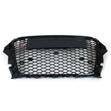 Top Quality A3 RS3 Style All Black Grill With Chrome Emblems, Auto Mesh Grille For Audi 2014( Fit A3 2014 )