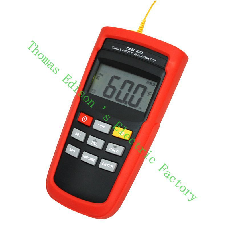Range -200 to 1372 Degrees TASI 600 tasi-600 K Thermocouple Thermometer Adjust thermocouple offset contact thermometer meter