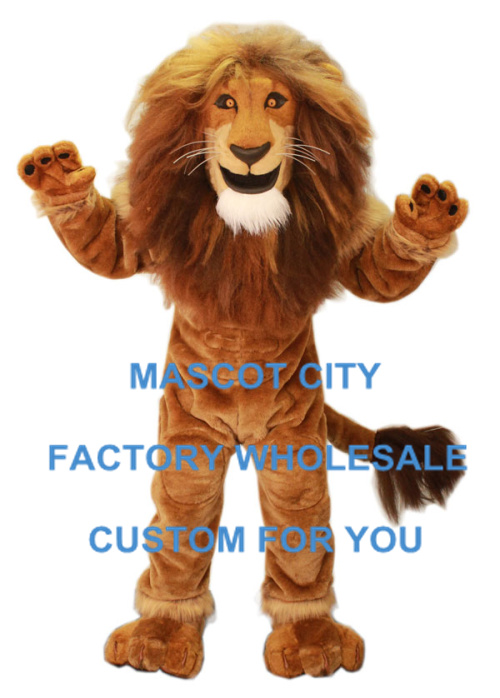 Alimentazione Maschio Lion King Mascot Costume Adult Size Wild Animal Tema Festa Di Carnevale Cosply Mascotte Suit Fancy Dress Sw997 Eccellente Nell'Effetto Cuscino