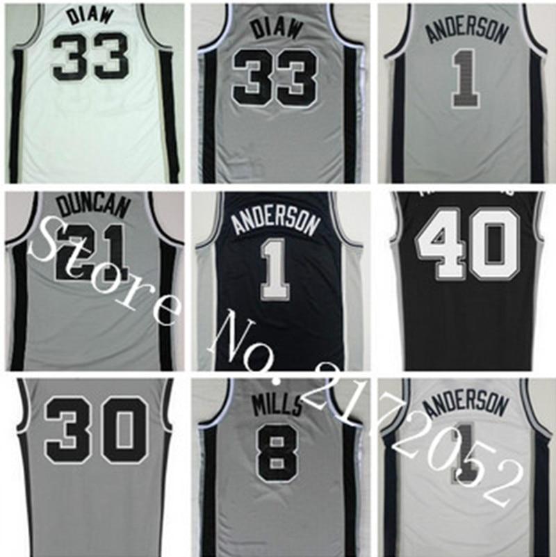 Boris Diaw Jersey Newest 1 Kyle Anderson 33 Boris Diaw Basketball Jerseys 8  Patty Patrick Mills 30 David West ... b7d05dd7a