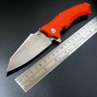 High Quality Snake Head G10 Folding Knife Imitate Medford Knife Use 9cr Steel Hardness 59HRC Ball