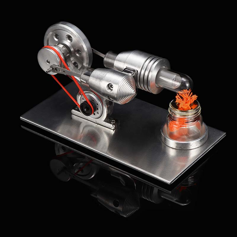 DIY Hot Air Stirling Engine Motor Model External Combustion Engine School + Light Bulb Demonstration Education Toy Kit For Kid