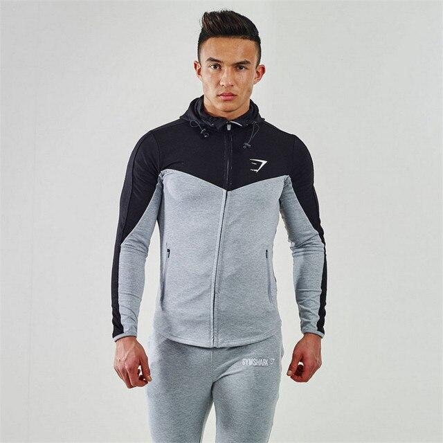 2016 Gymshark Толстовки Camisetas Masculina Hombre Пальто Мышц Бодибилдинг и Фитнес Толстовки Кофты мужская Спортивная Одежда