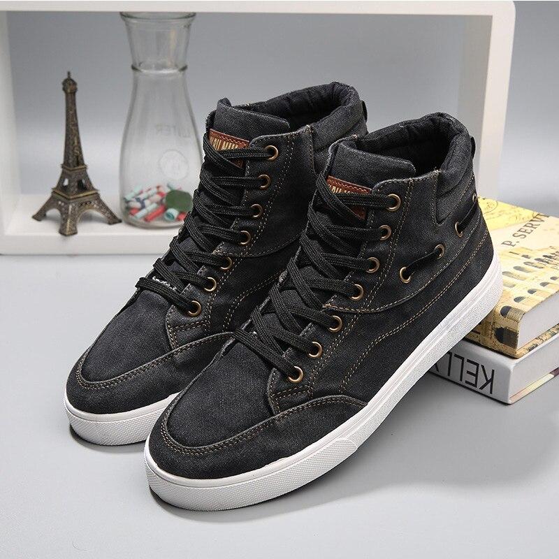 Zapatos de tela de algodón de alta superior zapatos hombres luz transpirable zap