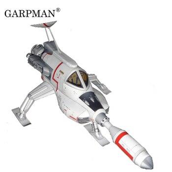 Nave espacial Civil ultradelgada OVNI interrecortada nave espacial Lunar modelo de papel 3D juguete DIY