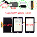 100% Тест Для Samsung Galaxy Tab 3 Lite T111 T110 LCD Дисплей Монитор + Сенсорный Экран Стекла Дигитайзер & Home Button