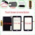 Prueba del 100% para samsung galaxy tab 3 lite t111 t110 lcd Monitor de pantalla + Pantalla Táctil de Cristal Digitalizador y Botón de Inicio