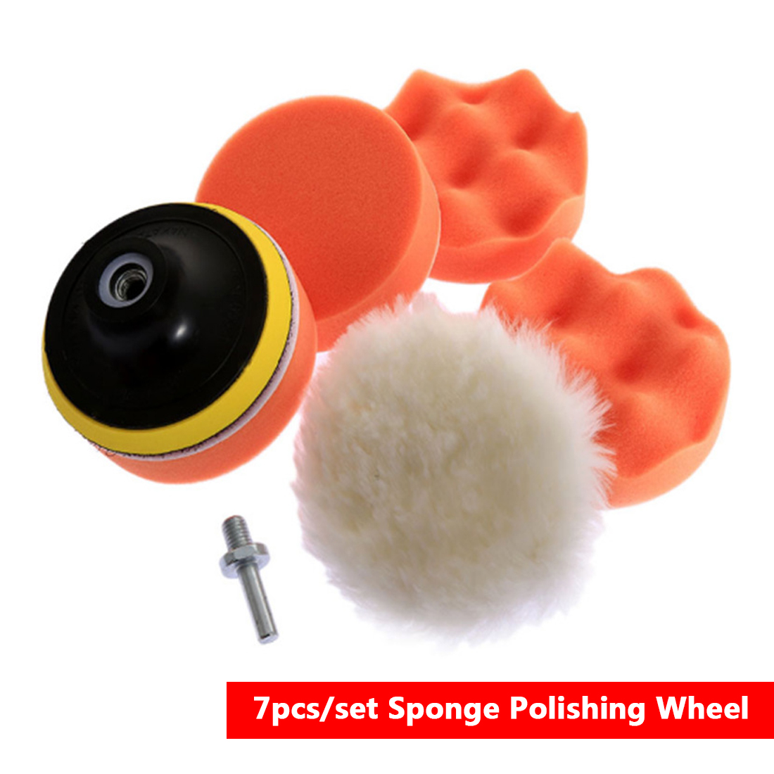 Car Polishing Pad Polishing Buffer Waxing Buffing Pad Drill Set Kit 7pcs/set 3