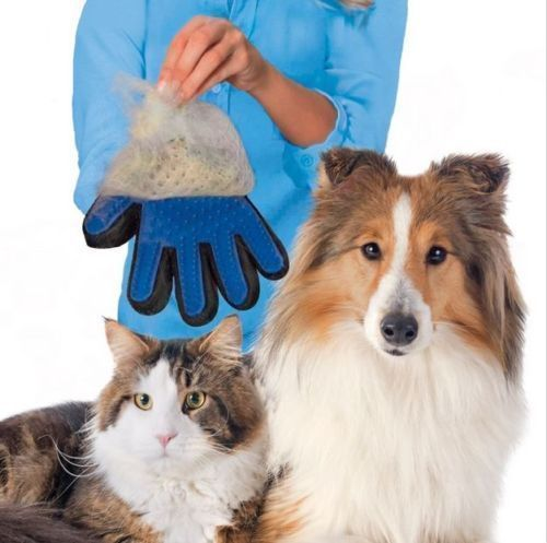 Massage-True-Glove-Touch-Deshedding-Gentle-Efficient-Pet-Grooming-Dogs-Cats-Bath