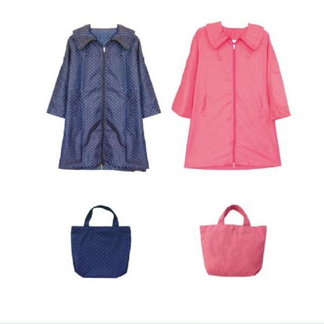 WINSTBROK Adults Women Raincoat Waterproof Nylon Raincoats With Packing Pouch Poncho Rain Wear Outdoor Poncho Blouses For Women