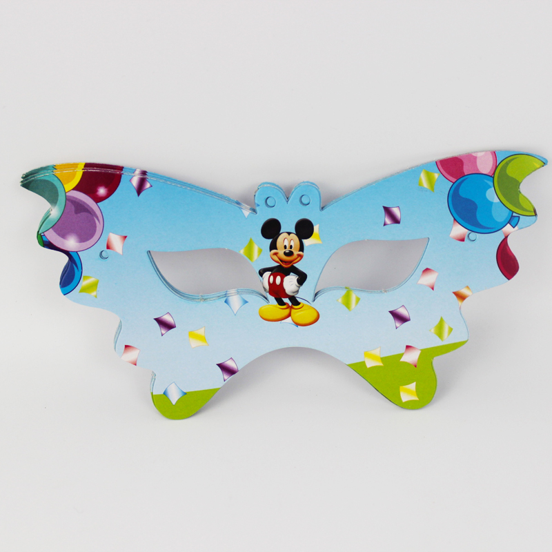 12pcs mickey mouse cartoon pattern theme party mask kids birthday party decorations christmas eye cover party supplies