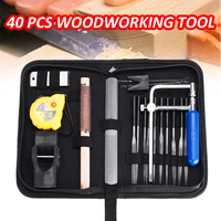 40Pcs/Set Toolkit Metal Needle Files Planer Saw Hand Tool Sets For Home DIY Folder Hobby Wood Woodworking Hand Tools