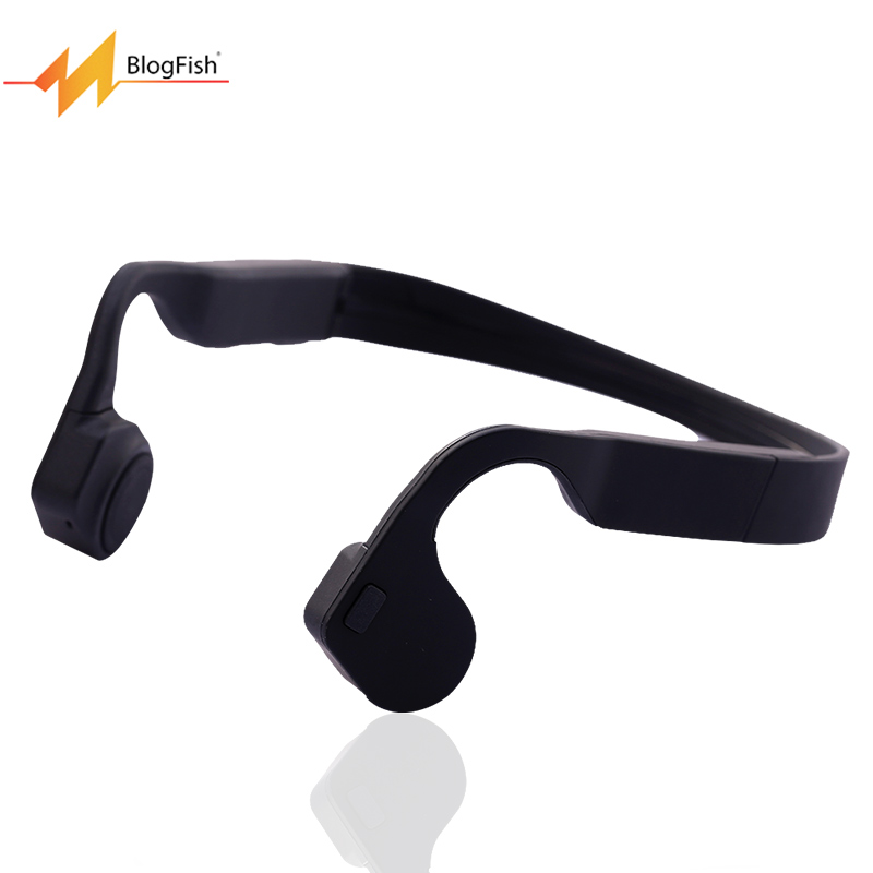 Blog Fish Wireless Bone Conduction Waterproof Bluetooth V4 0 Open ear Earphone Stereo headset Sport Headphones
